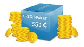 Credit Paket - 550 Credits